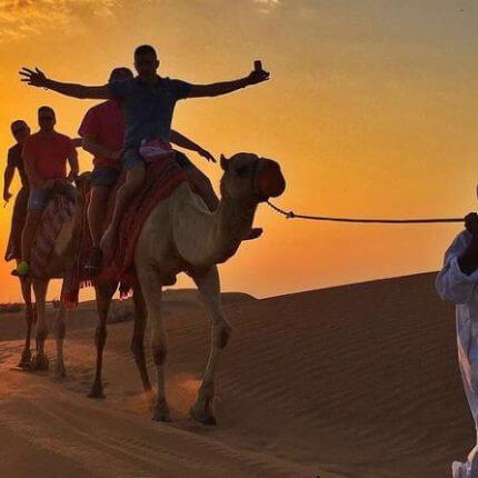 morning desert safari dune bashing