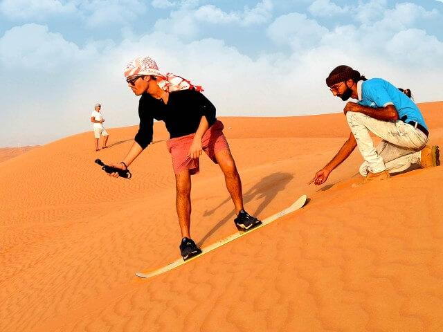 Sandboarding IN DESERT Dubai